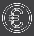 coin euro line icon business and finance money vector image