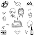 Doodle of Weding party vector image
