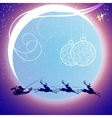 Santa Claus on sledge with deer vector image