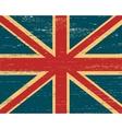 shabby British flag vector image