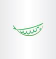 stylized peas icon art logo symbol vector image