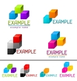 Set of abstract brands from cubes vector image
