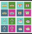 set of kids toys in flet icons on color vector image vector image
