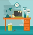 Work place of web designer on holiday vector image