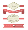 Wedding Tags and Banners vector image