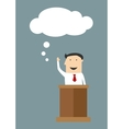 Businessman with a great idea vector image