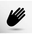 Hand icon palm symbol graphic sign line vector image