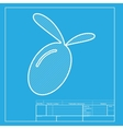 Olive sign White section of icon on vector image