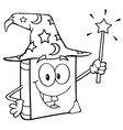 Outlined Wizard Book vector image