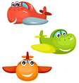 airplane set vector image vector image