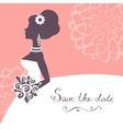 Beautiful bride with flowers vector image