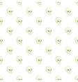 Human skull pattern cartoon style vector image