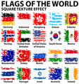 Poster design with flags of the world vector image