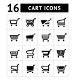 Set of shopping cart icons vector image