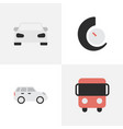 set of simple traffic icons vector image