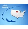 South Dakota vector image