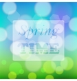 Transparent Spring Time Banner vector image