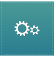 Two gears icon vector image