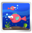 a fish underwater background vector image vector image