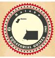 Vintage label-sticker cards of Equatorial Guinea vector image