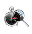 compass and zoom vector image vector image