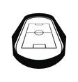 Open soccer field black simple icon vector image