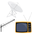 Antenna and tv vector image