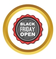 Black Friday sale badge icon vector image