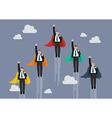 Businessmen superhero competition vector image