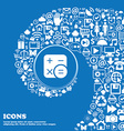 Calculator icon sign Nice set of beautiful icons vector image