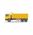 dump truck tipper on white background vector image