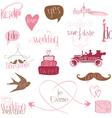 romantic wedding design elements -for invitation s vector image