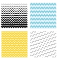 Set Pattern zigzag vector image