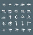 set with different weather icons vector image