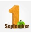 1 september date vector image vector image