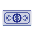 blue silhouette of money bill vector image