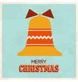 retro christmas card 4 vector image vector image