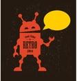 Vintage robot vector image