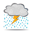 climate cloud thunder and rain vector image vector image