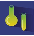 Abstract chemistry icons isolated on colored vector image vector image