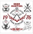 Deer hunting Set of badges labels logo design vector image vector image