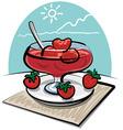 strawberries jam vector image