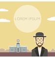 Jew flat banner3 vector image