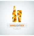 beer bottle poly design background vector image vector image
