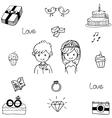 Doodle element wedding party vector image