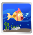 a fish underwater background vector image