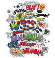 Comic book words vector image