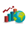 growth global design vector image