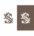modern professional sign logo s letter vector image
