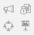 project icons set collection of announcement vector image